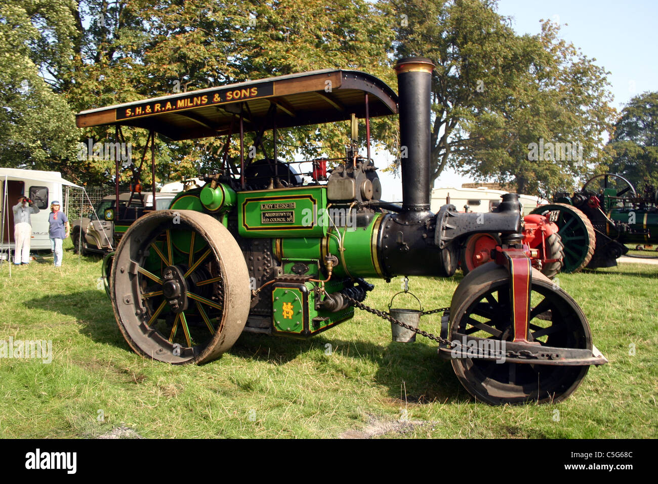 Aveling  & Porter convertible Lady Hesketh at 2006 YesterYear Rally Hampton Malpas Cheshire England - Stock Image