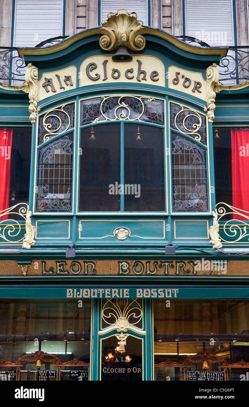 Ornate shop front Lille France - Stock Image