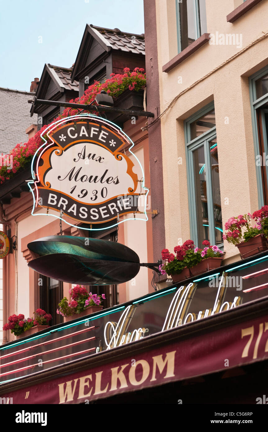 Seafood brasserie restaurant Lille France - Stock Image