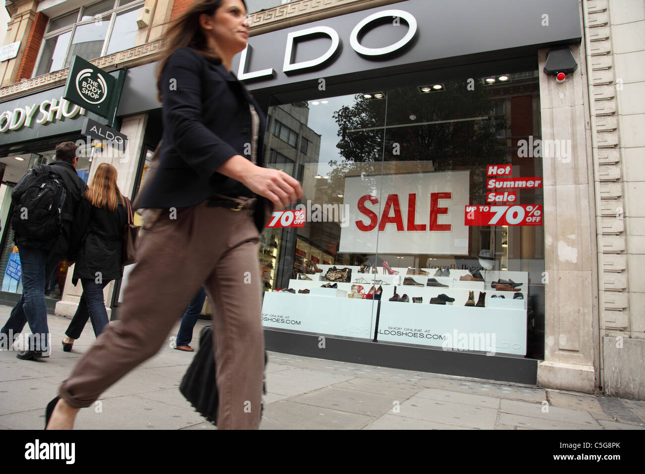 Sales at a store on Oxford Street, London, England, U.K. - Stock Image