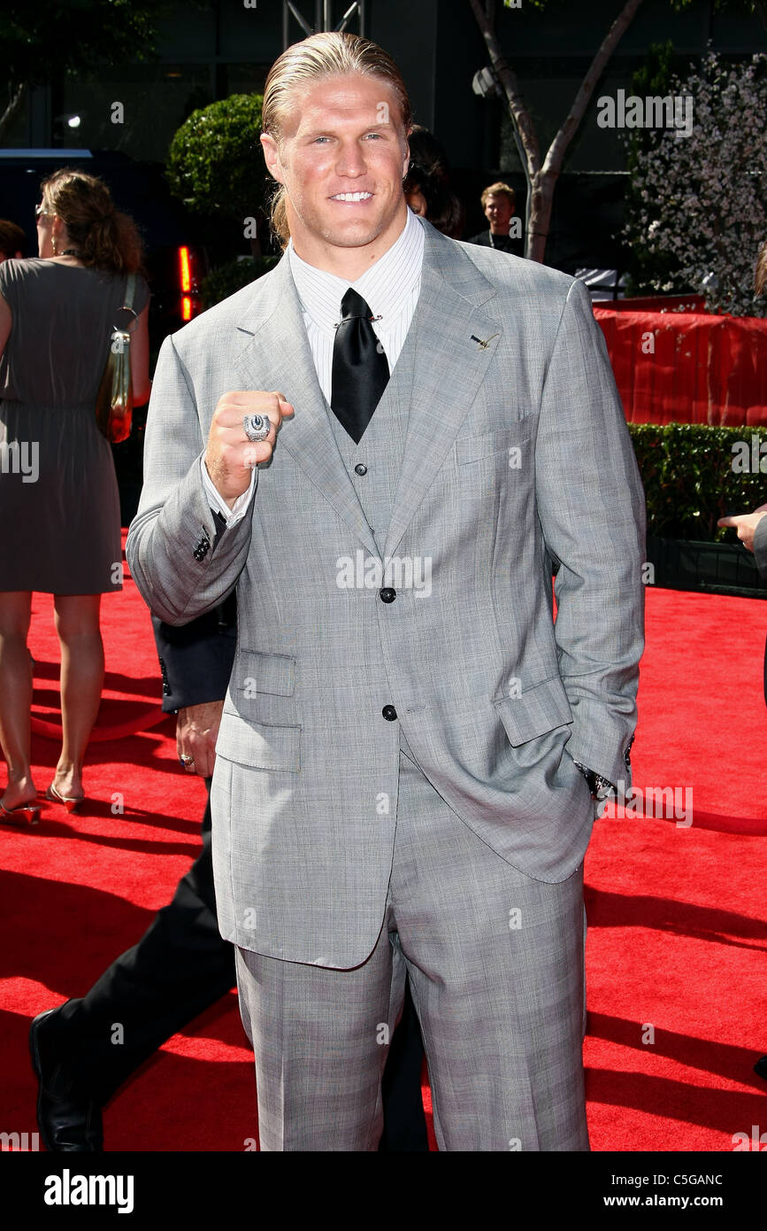 CLAY MATTHEWS JR. THE 2011 ESPY'S AWARDS ARRIVALS DOWNTOWN LOS ANGELES CALIFORNIA USA 13 July 2011 - Stock Image