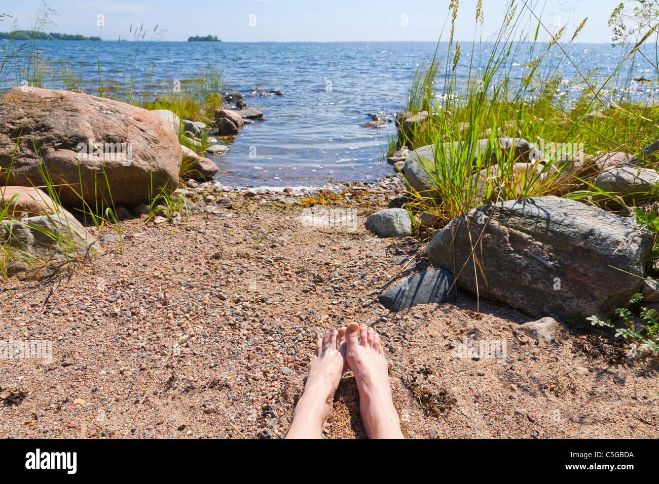Summer in the Archipelago of Stockholm, Sweden. - Stock Image