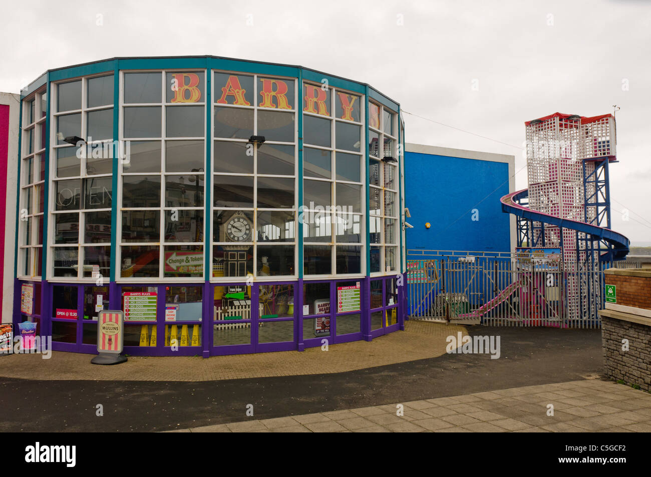 Front of Barry's Amusements, Portrush - Stock Image