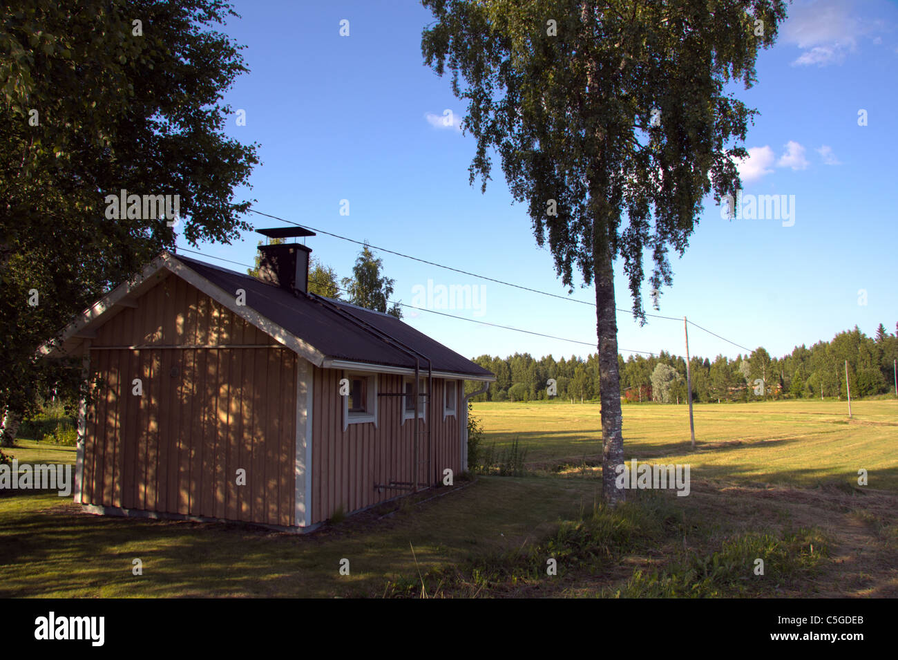 Scandinavian Farm - Stock Image