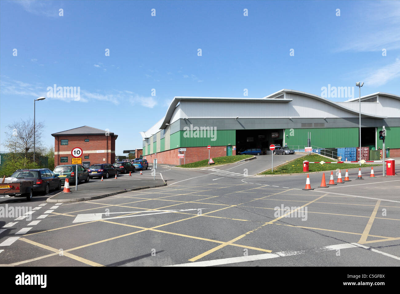 HOUSEHOLD RECYCLING CENTRE, run by Shropshire Council this  particular centre at Battlefield Enterprise Park, Shrewsbury. - Stock Image