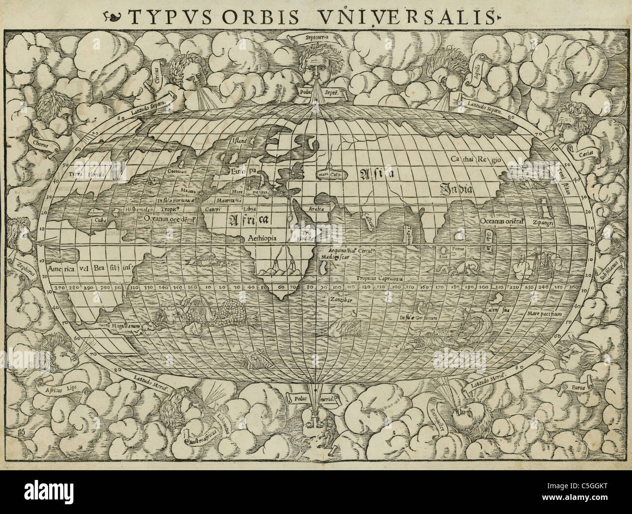 Old world map stock photos old world map stock images alamy antiquarian world map stock image gumiabroncs Image collections