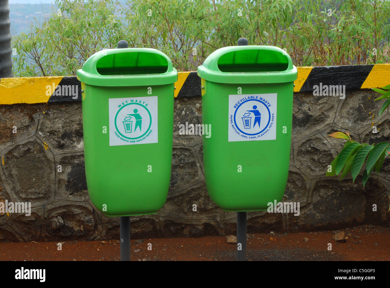 recyclable waste - Stock Image