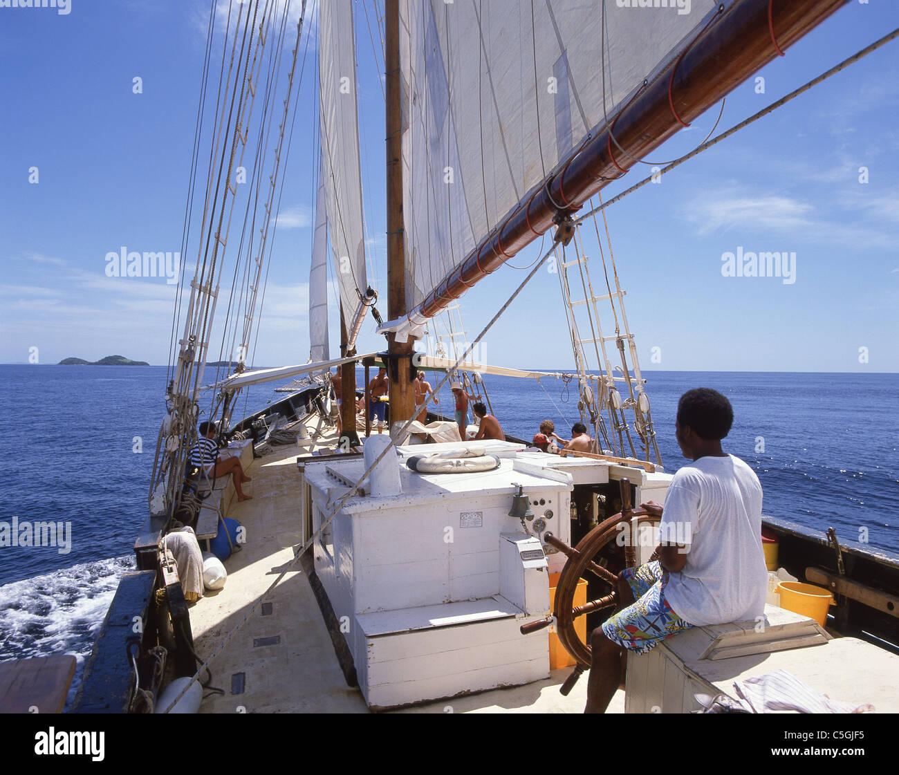 Yachting excursion, Barbados, Lesser Antilles, Caribbean - Stock Image