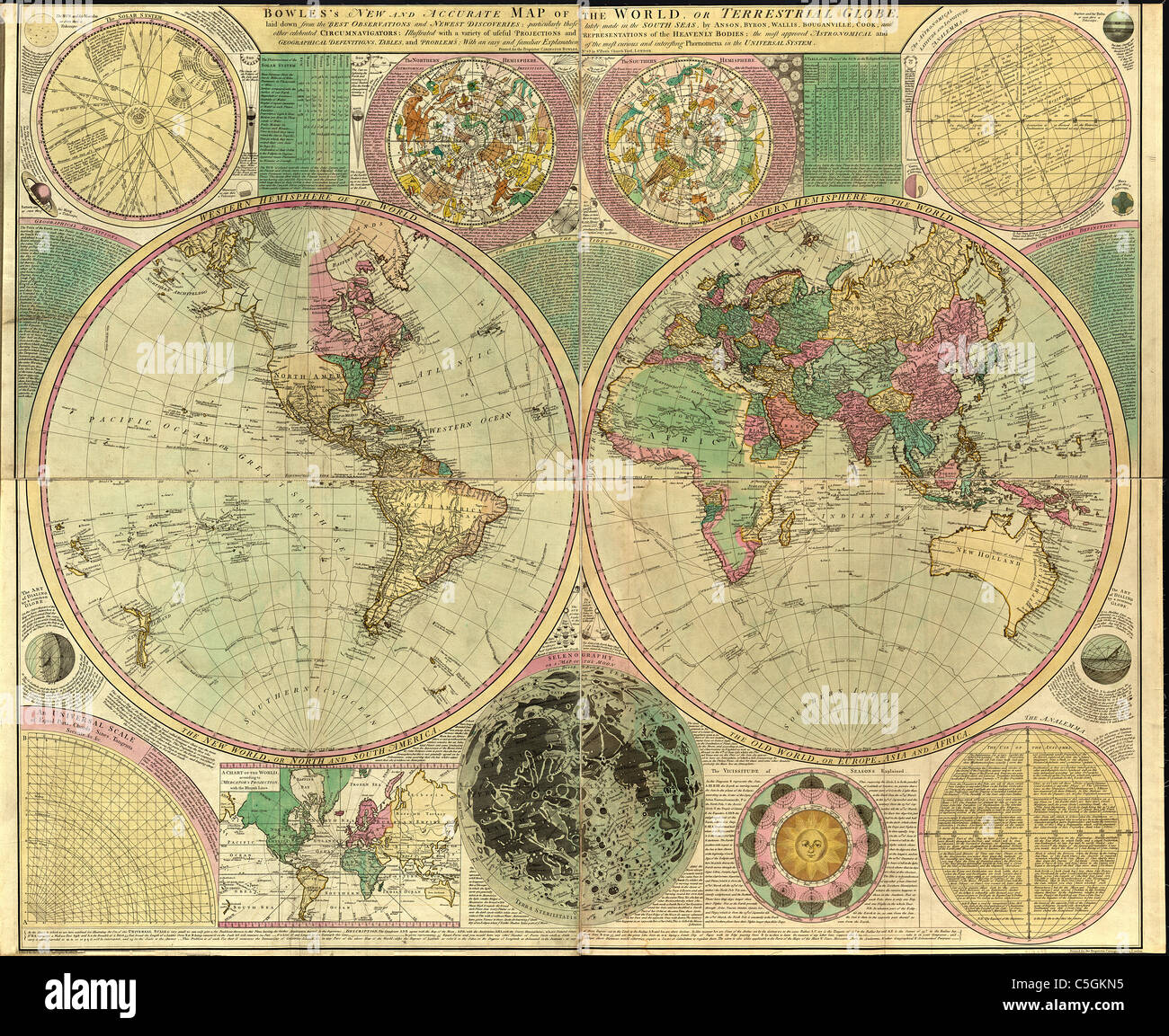 Archaic world map stock photos archaic world map stock images alamy bowless new and accurate map of the world or terrestrial globe antique world map gumiabroncs Gallery