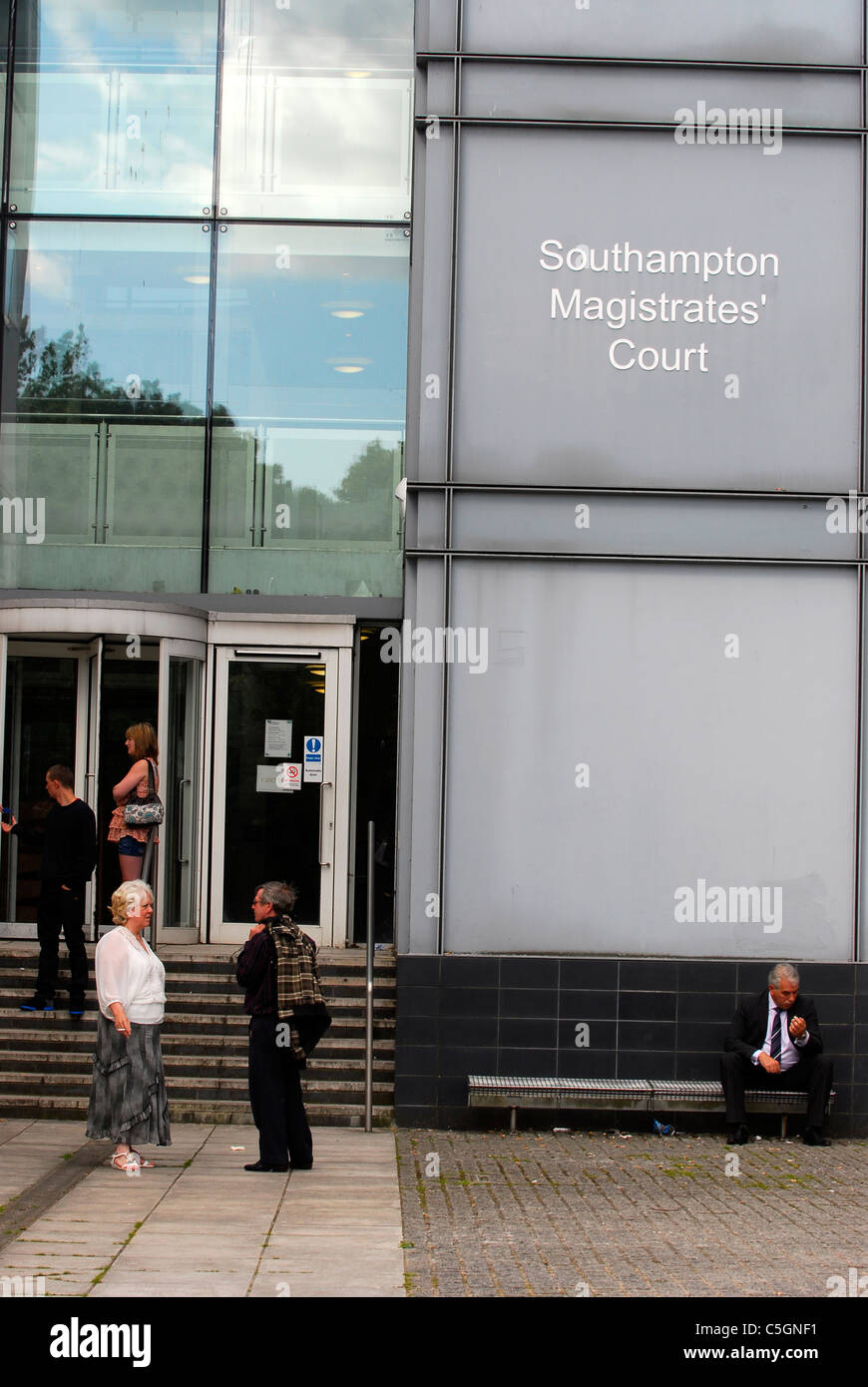Exterior view of Southampton Magistrates Court, Hampshire, UK. - Stock Image