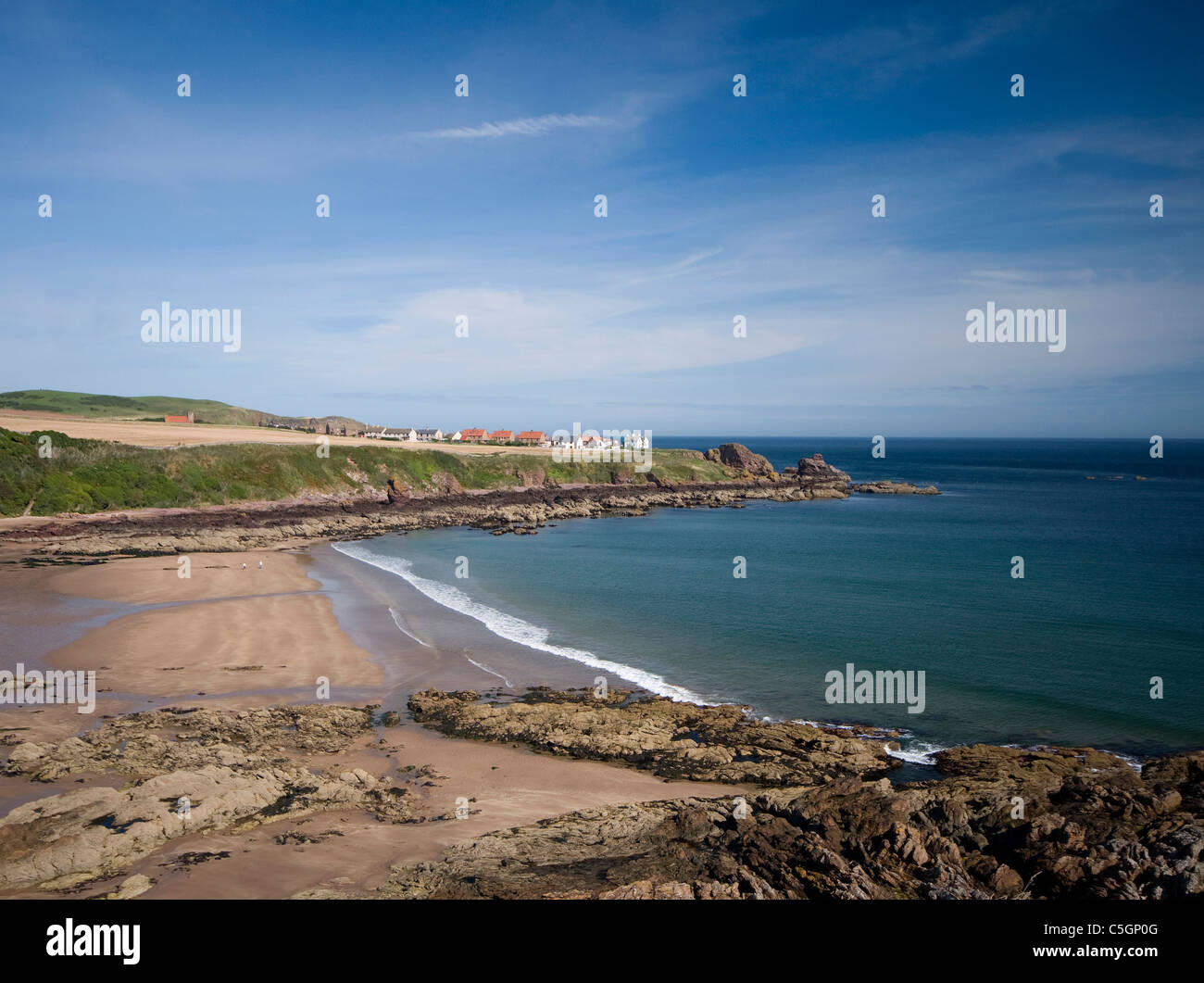 Beach at Coldingham Bay Scottish Borders - Stock Image