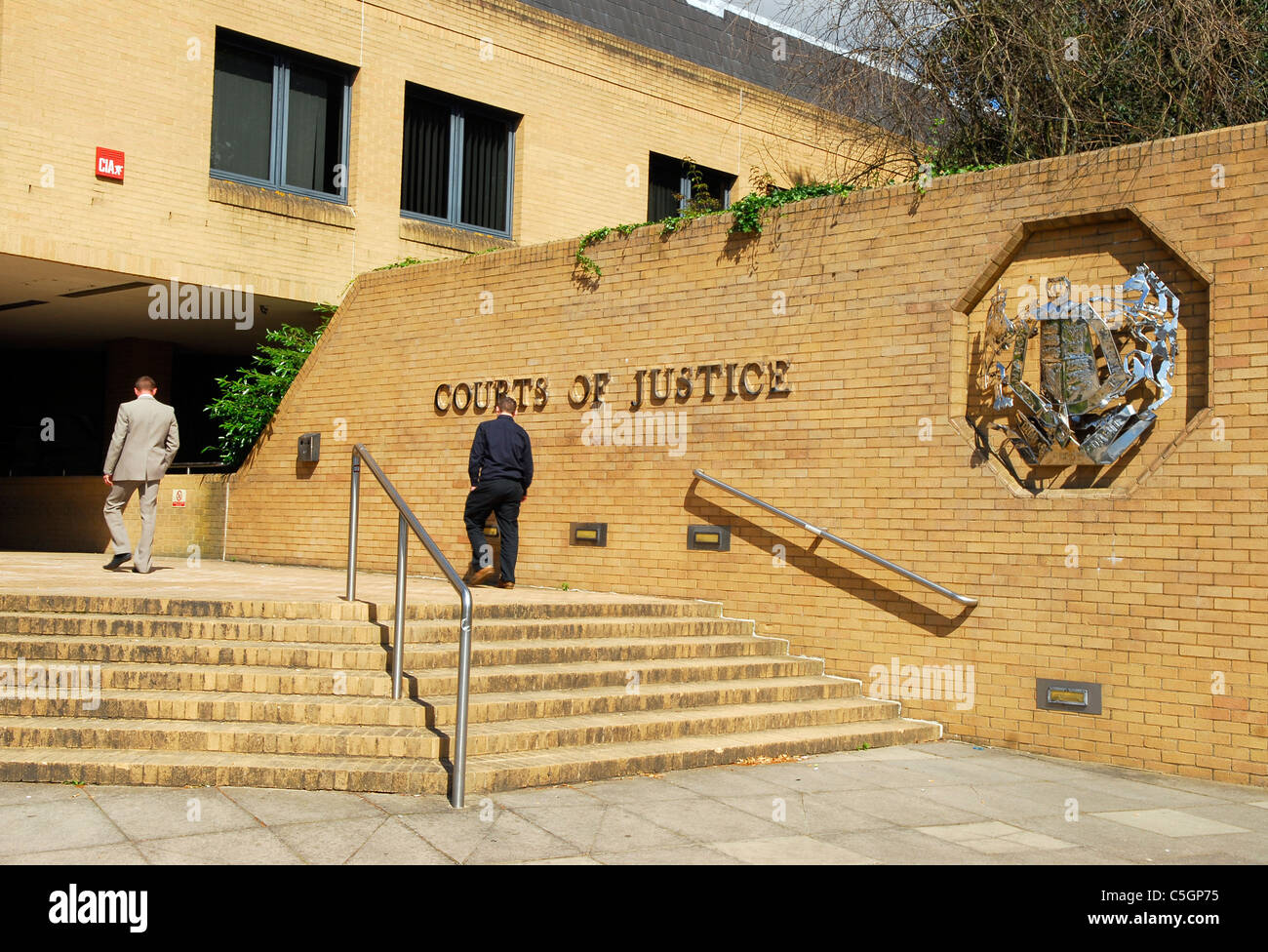 Exterior of Crown Court, Southampton, Hampshire, UK. - Stock Image