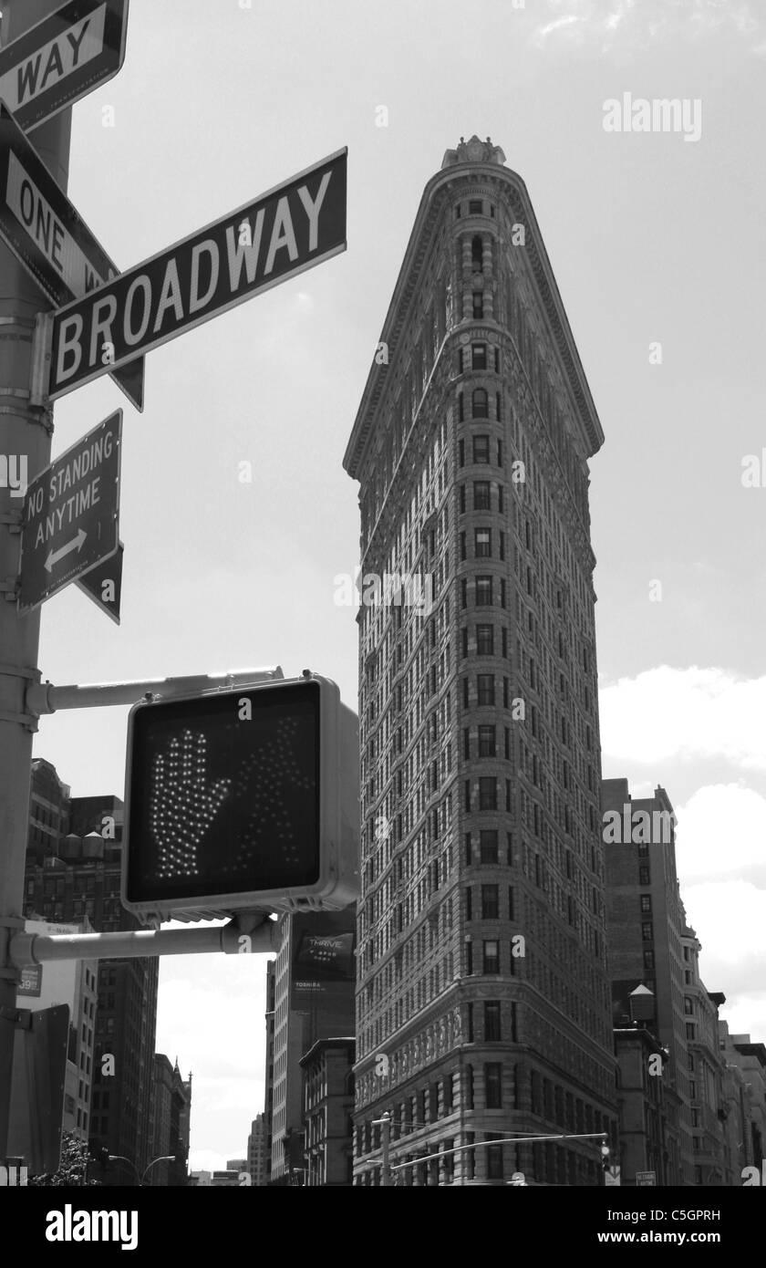 The Flatiron Building in Midtown Manhattan. - Stock Image