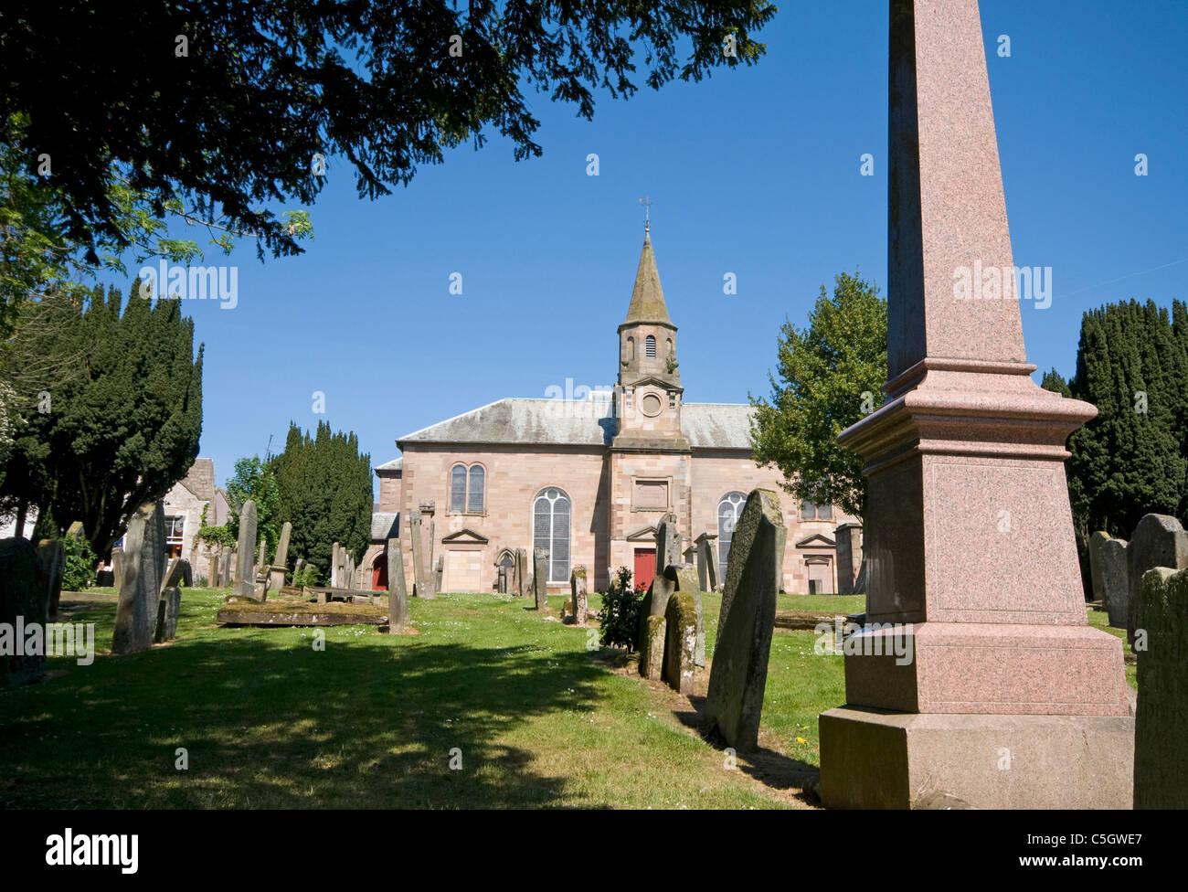 Duns Chapel and graveyard - Stock Image