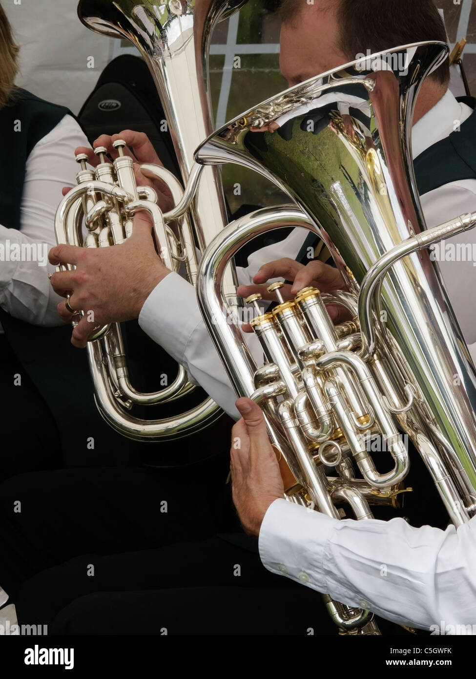 Tubas in a Brass Band-1 - Stock Image