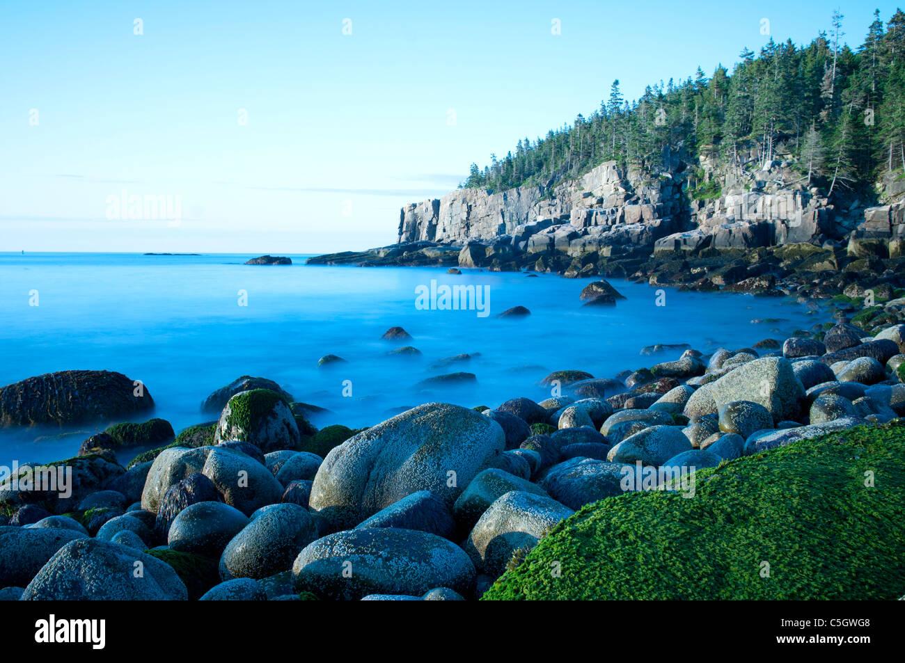 Otter cliffs Acadia National park Maine Stock Photo