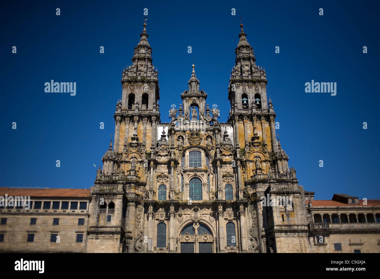 The Cathedral of Santiago de Compostela, Spain. Stock Photo
