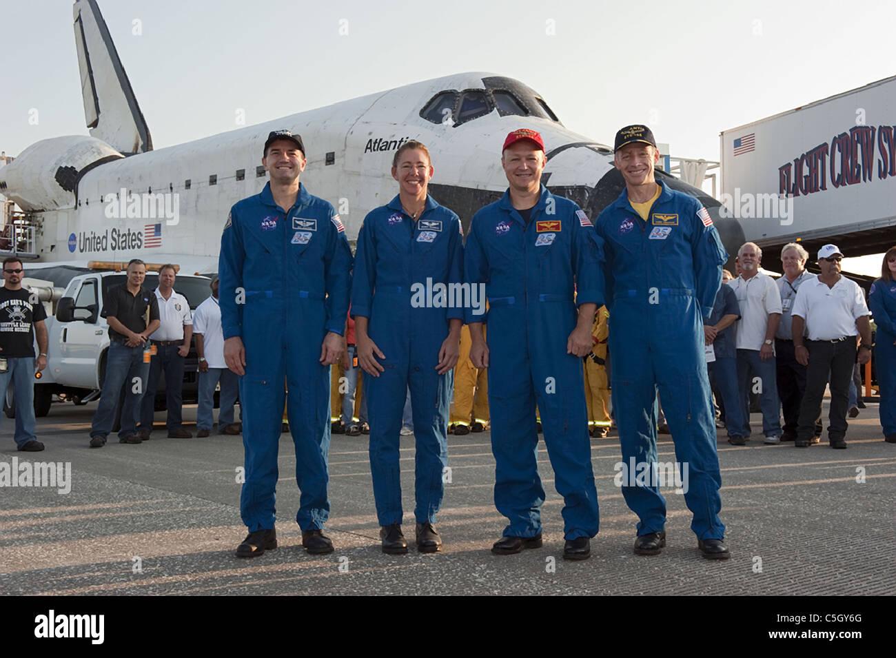 Atlantis Space Shuttle Crew final mission - Stock Image