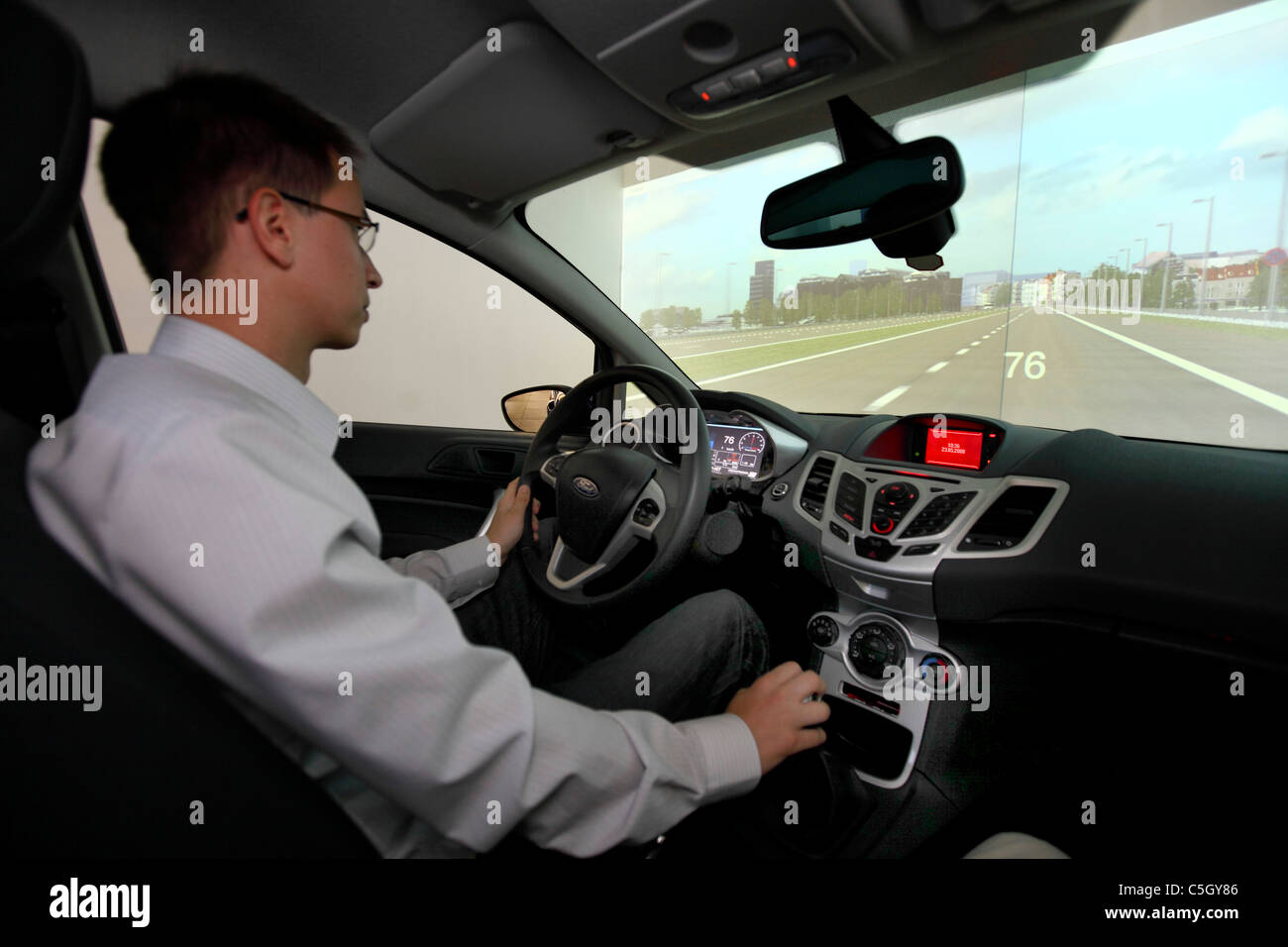 University Duisburg-Essen, simulator for electric mobility. Simulation of performance capability of electric vehicles. - Stock Image