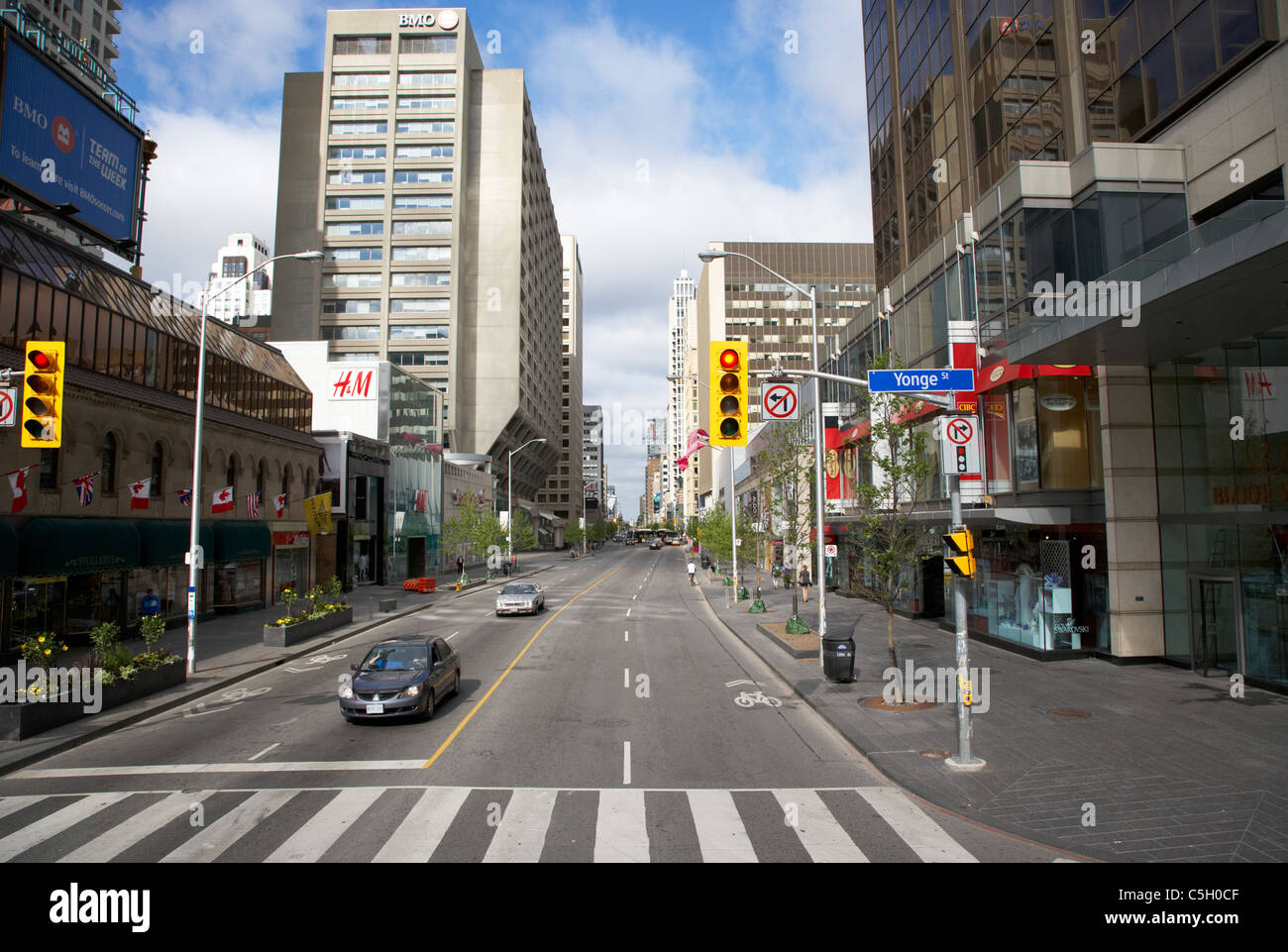 exclusive bloor street at the junction with yonge street toronto ontario canada - Stock Image