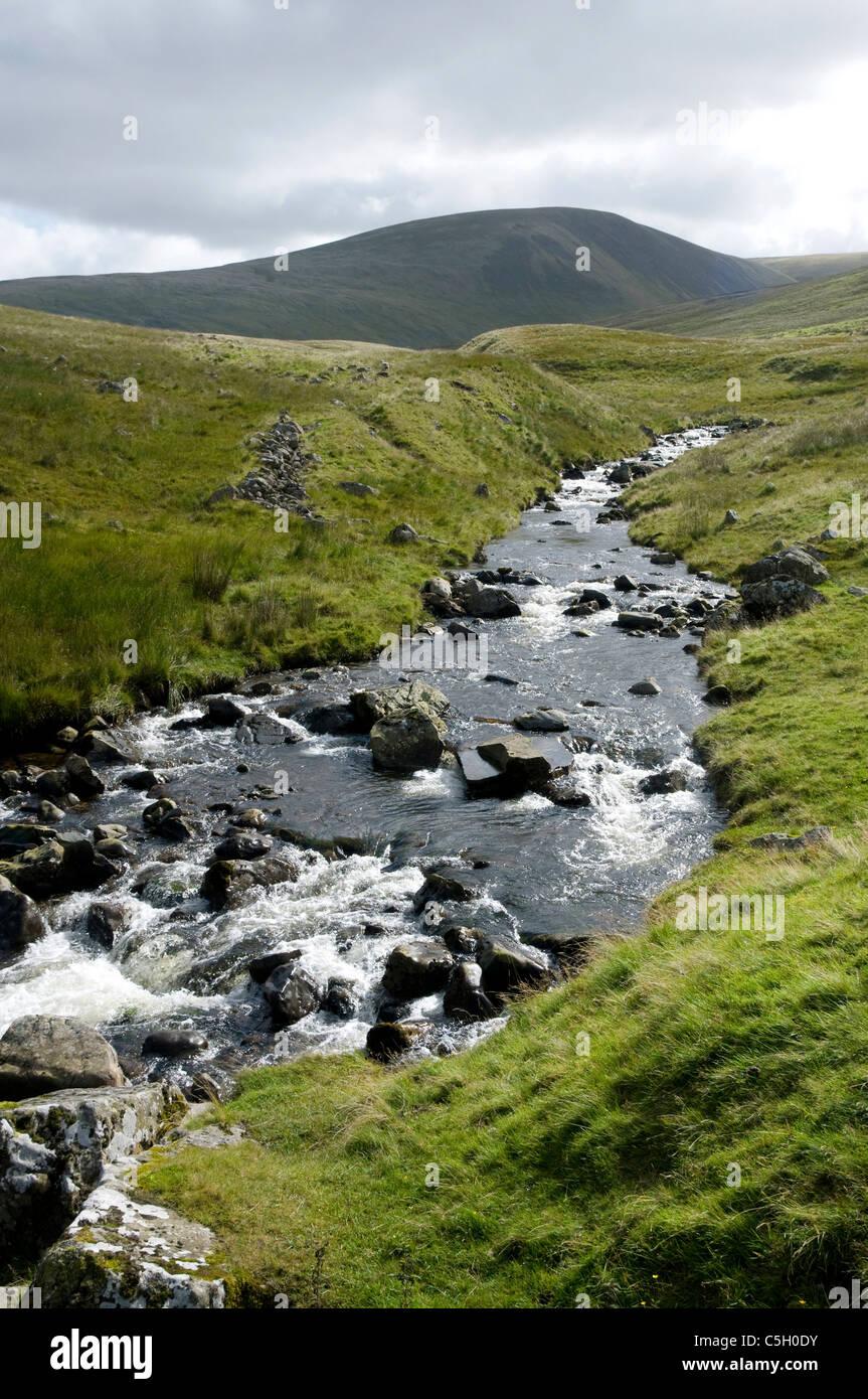 Highland Burn above Talla Reservoir - scottish Borders - Stock Image