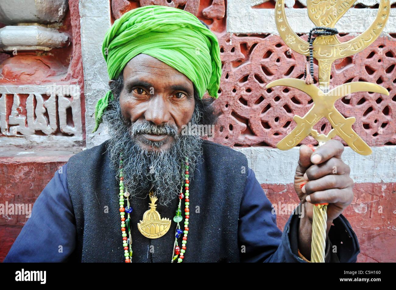 The Nizamuddin Sufi Shrine in Delhi. - Stock Image