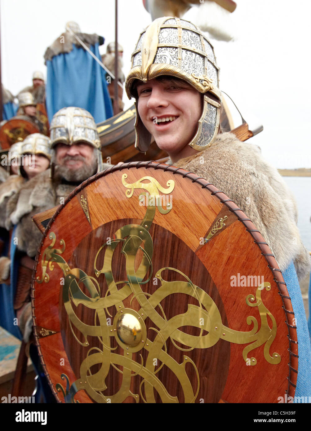 Vikings at the Up Helly Aa Fire Festival Shetland Islands Stock Photo