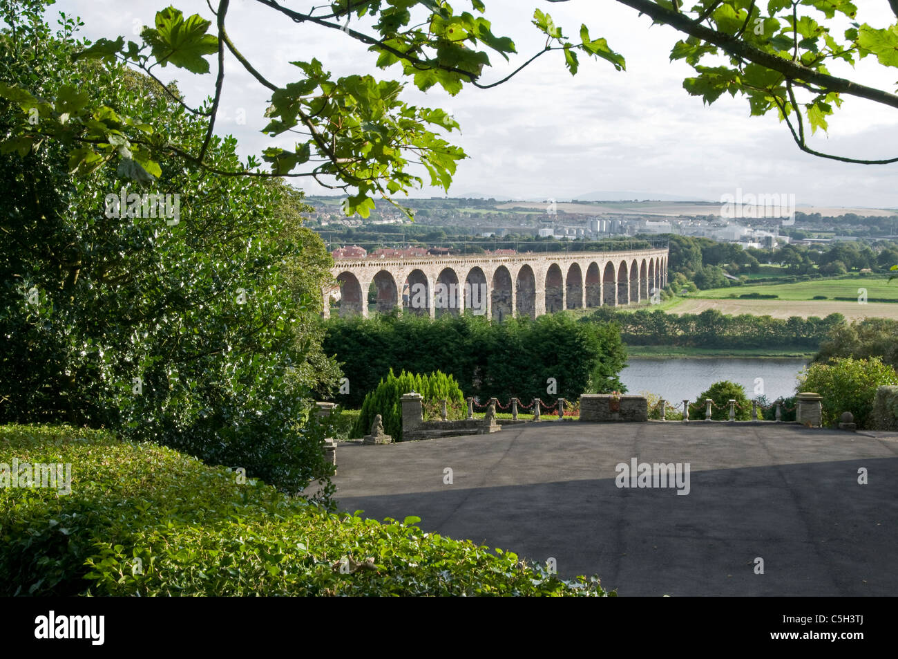 Railway viaduct at Berwick on Tweed - Stock Image