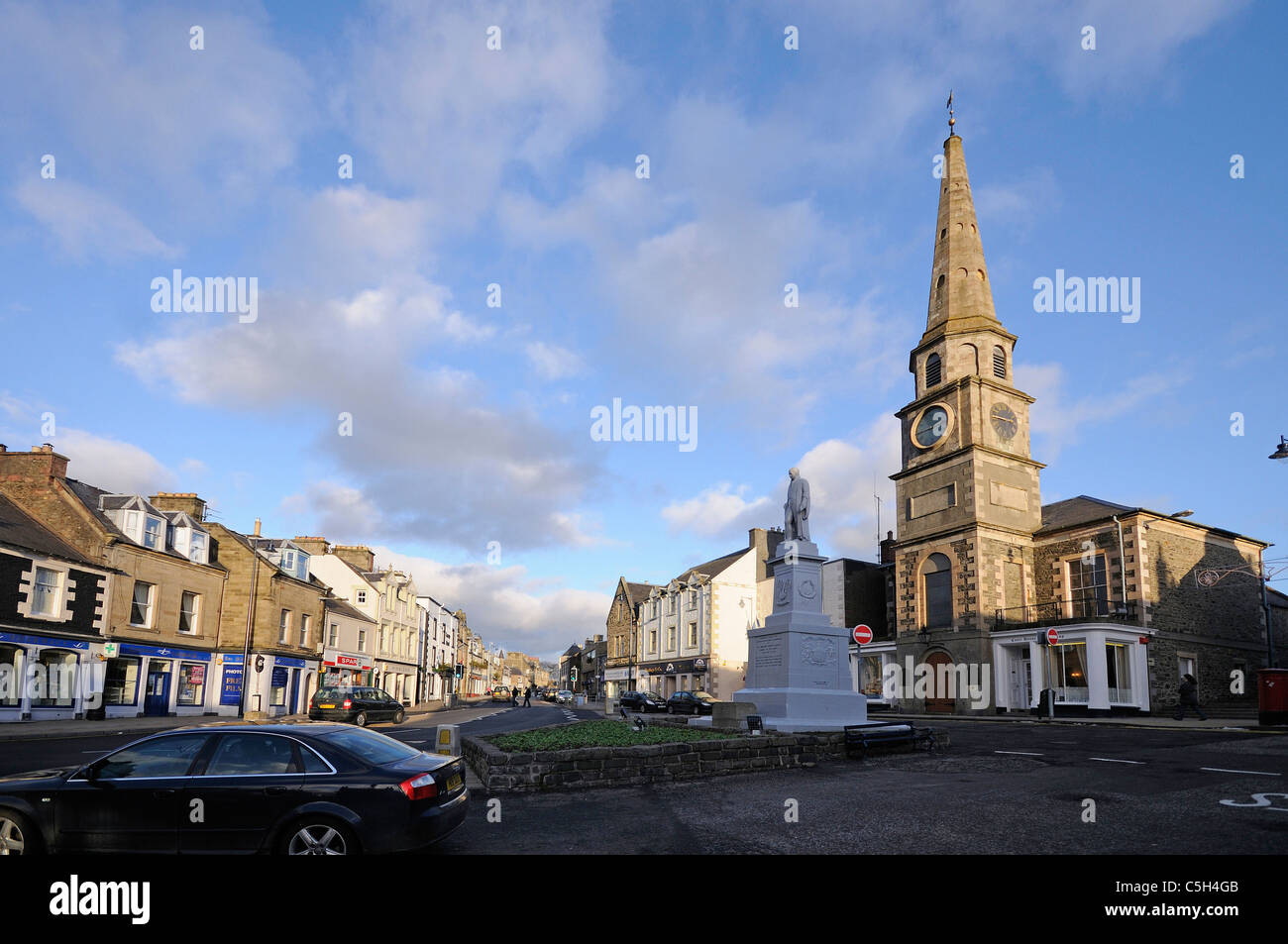 Selkirk The Main Square - Stock Image