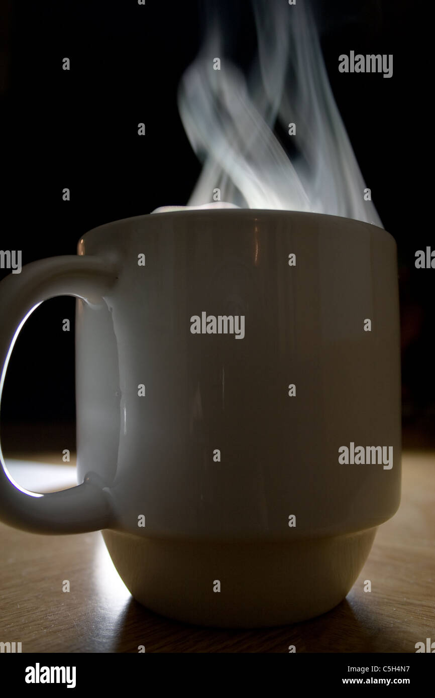 Steam Rising from Coffee Cup - Stock Image
