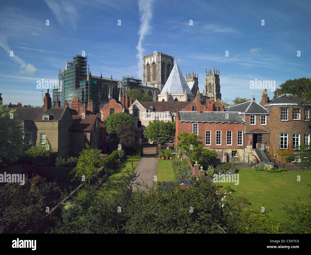 Gray's Court and the Minster from the City Walls York North Yorkshire England UK United Kingdom GB Great Britain - Stock Image