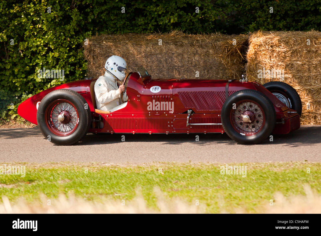 Pre-War Formula One cars at the Goodwood Festival of Speed 2011 - Stock Image