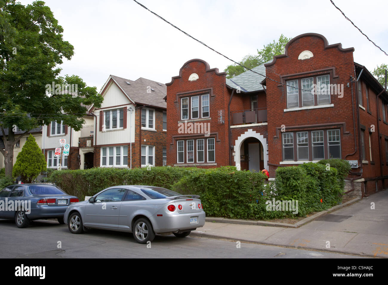 expensive exclusive residential street in the annex near casa loma district toronto ontario canada - Stock Image