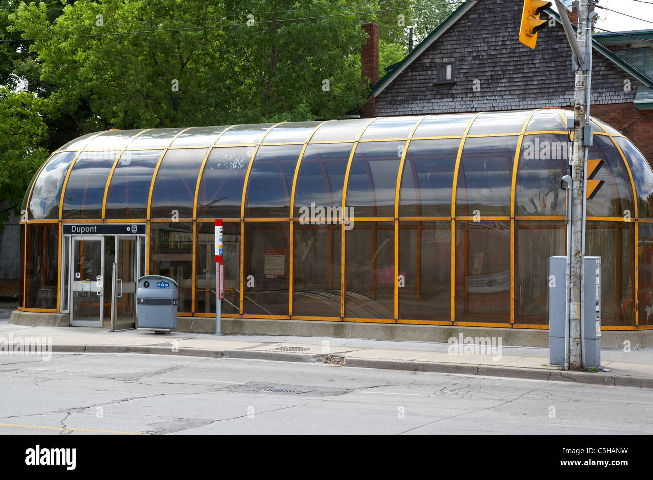 dupont ttc covered subway station entrance toronto ontario canada - Stock Image