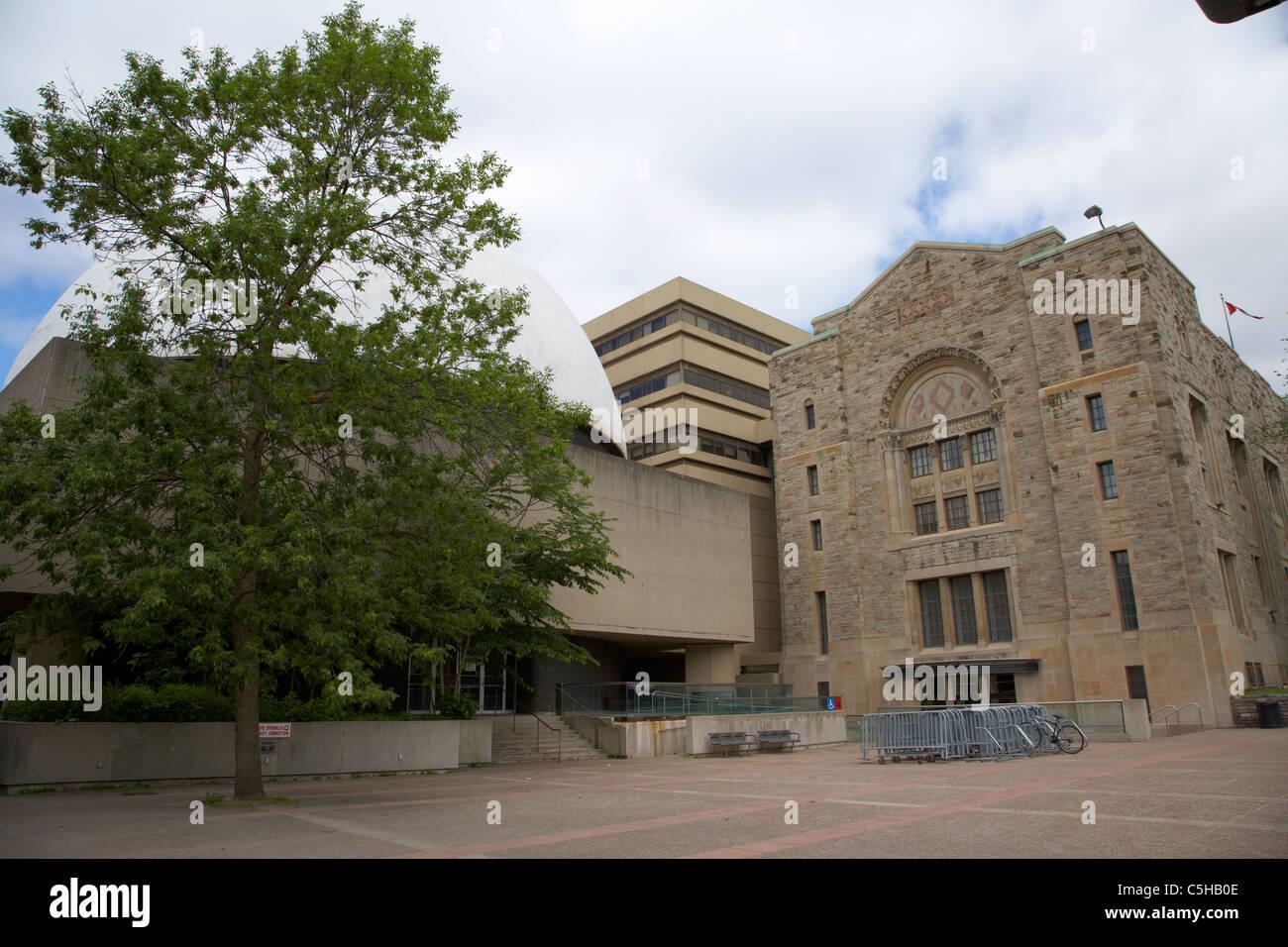 the McLaughlin Planetarium building and ROM museum toronto ontario canada - Stock Image