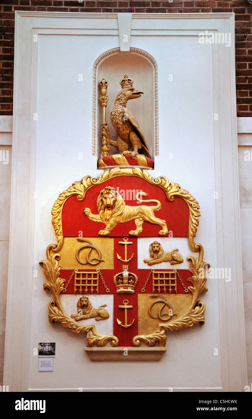 The shield and emblem of the - Stock Image