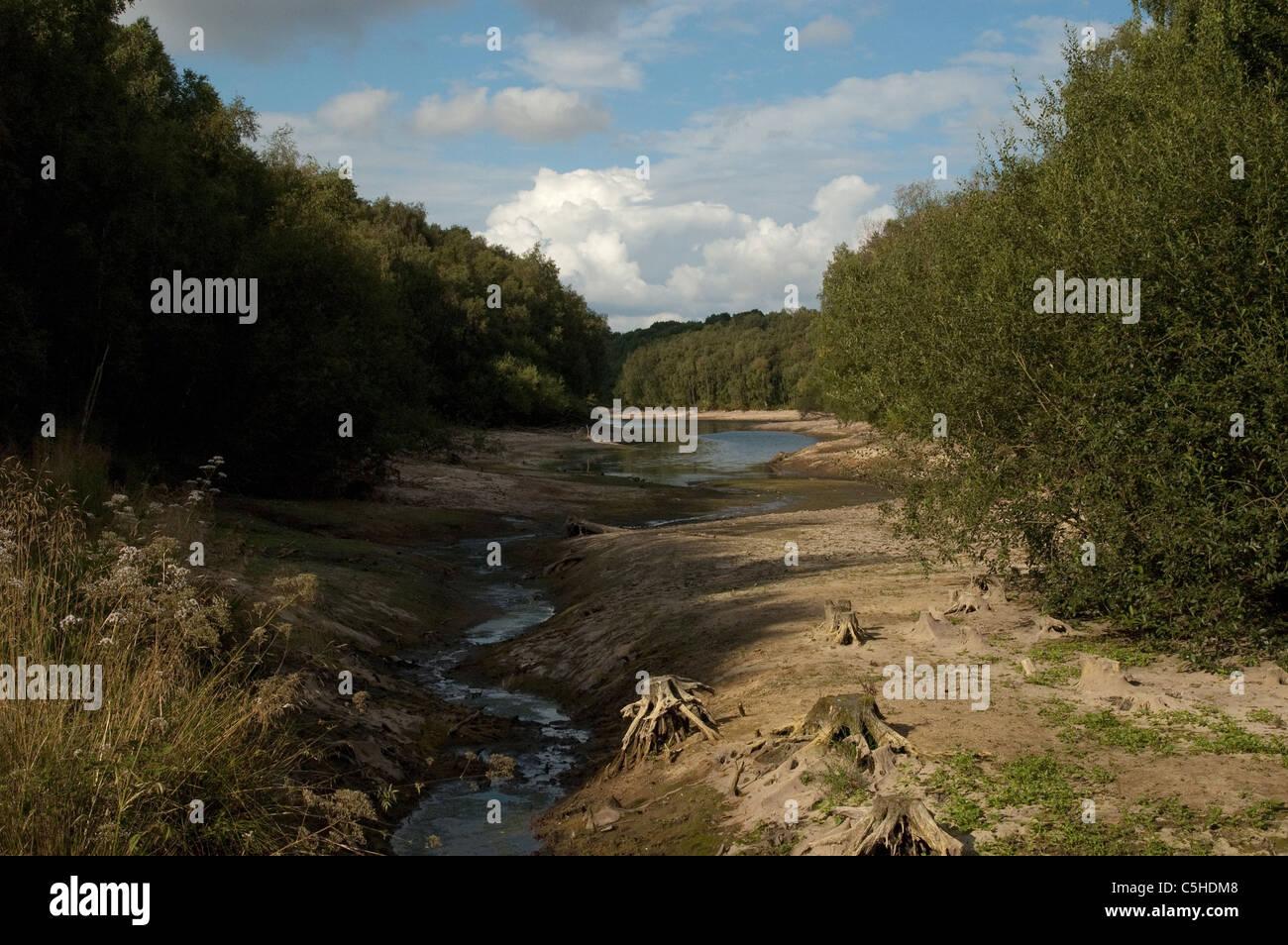 Foremark Reservoir in Derbyshire, in Turner style. - Stock Image