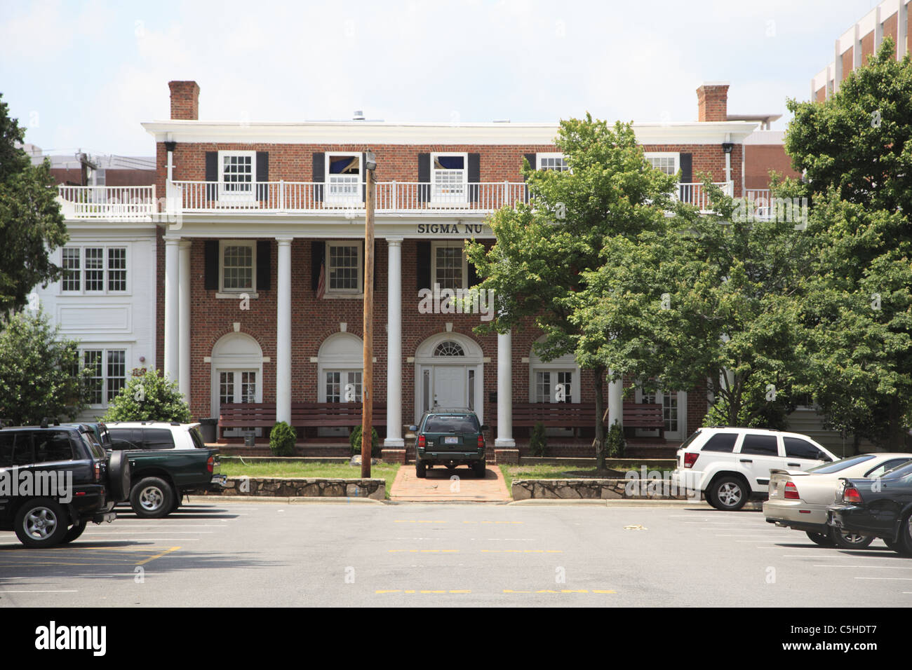 Fraternity House, University of North Carolina, Chapel Hill, USA Stock Photo