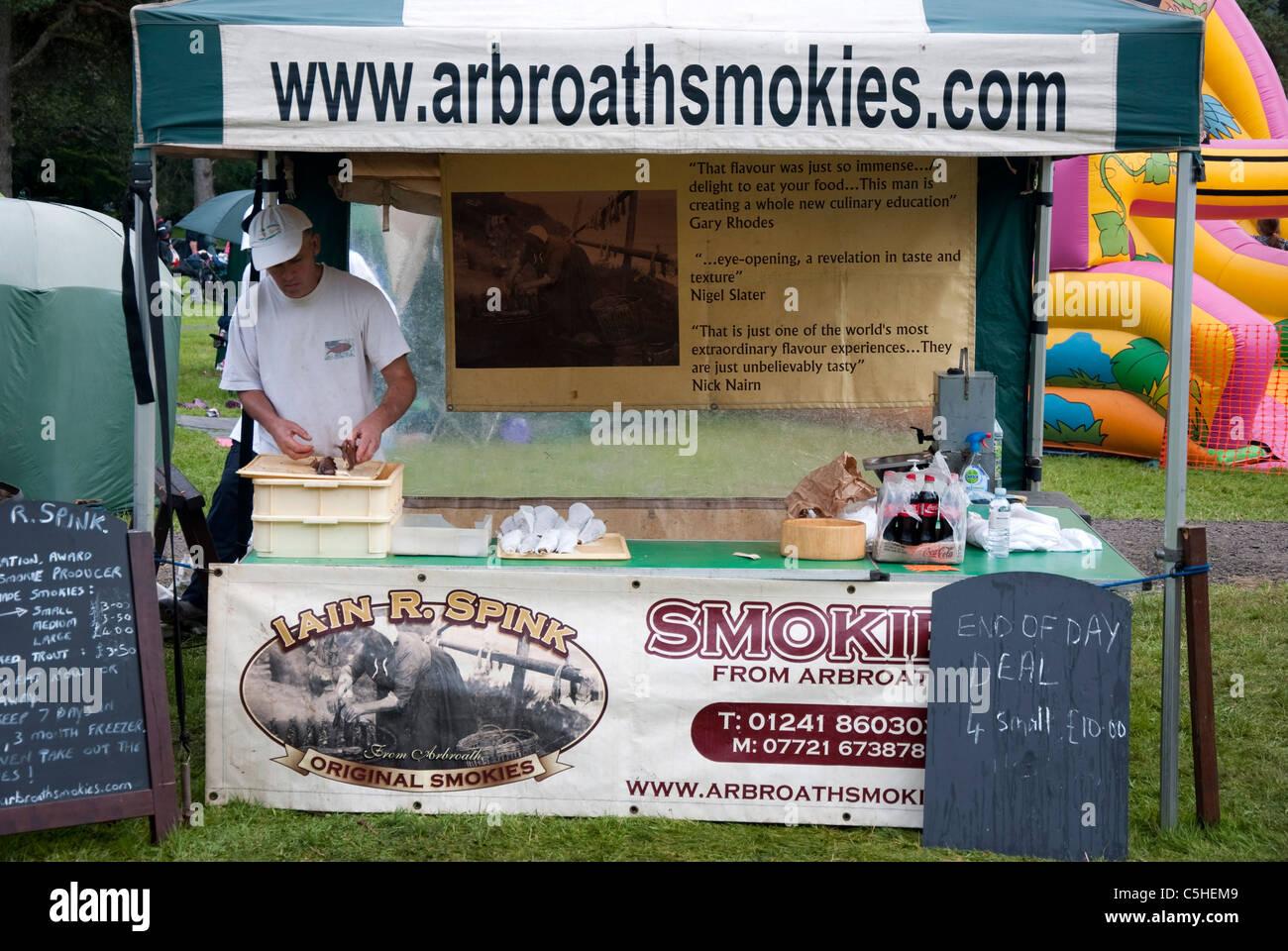 Iain R Spink Arbroath Smokies Stall - Stock Image