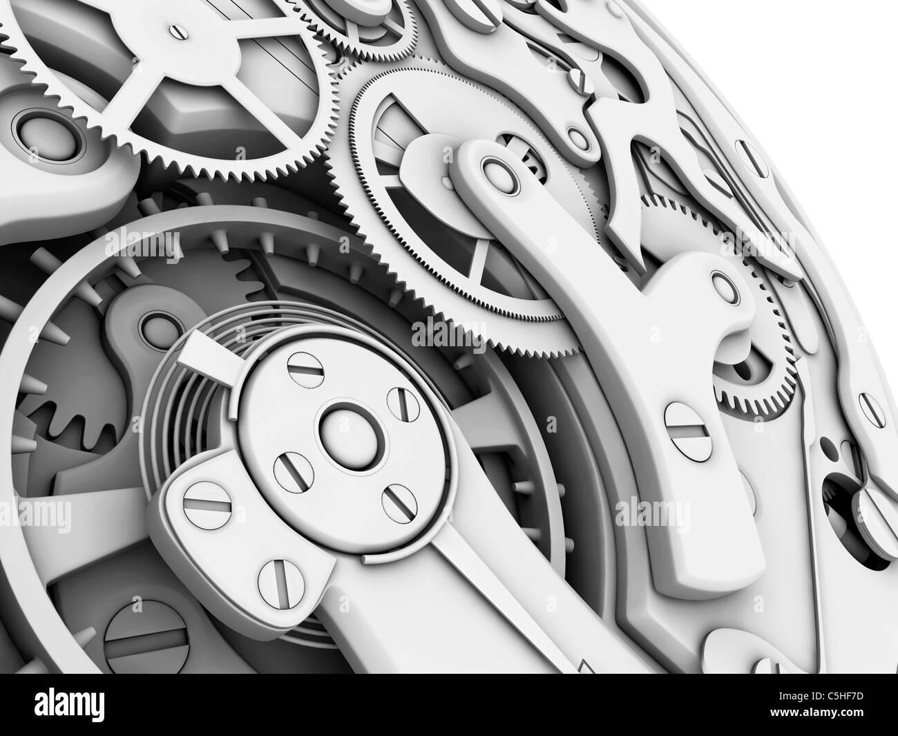 Wrist watch interior - Stock Image