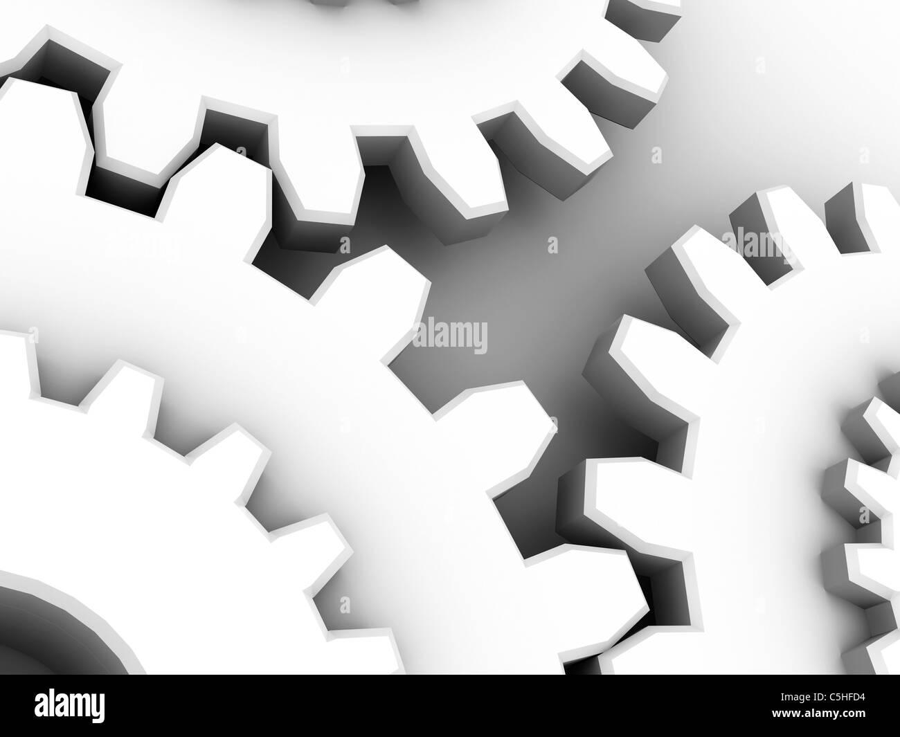 Gear wheels, computer artwork - Stock Image