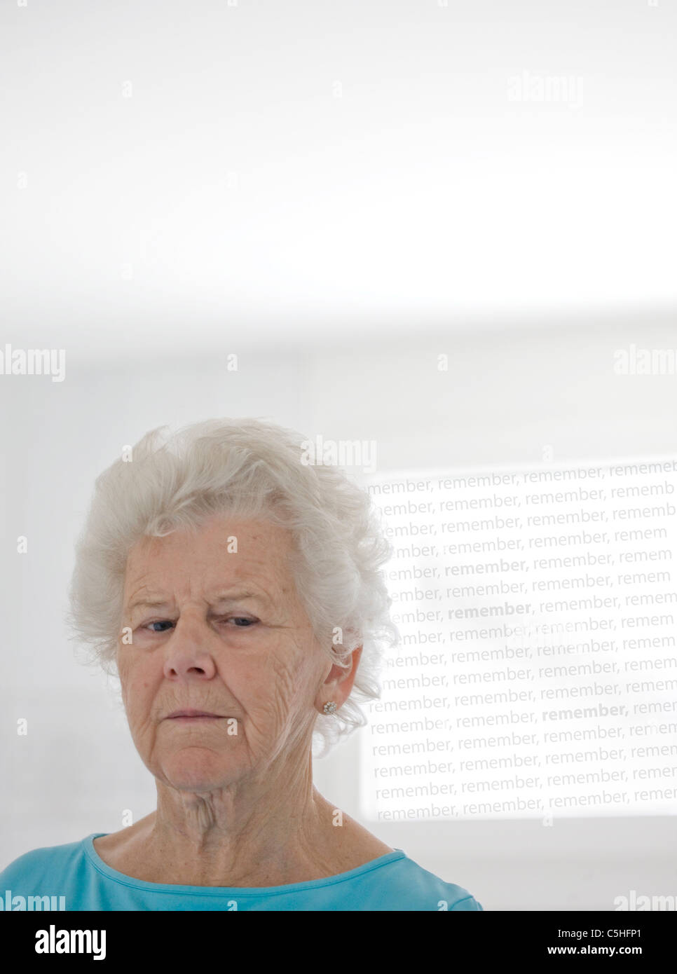 Elderly woman - Stock Image