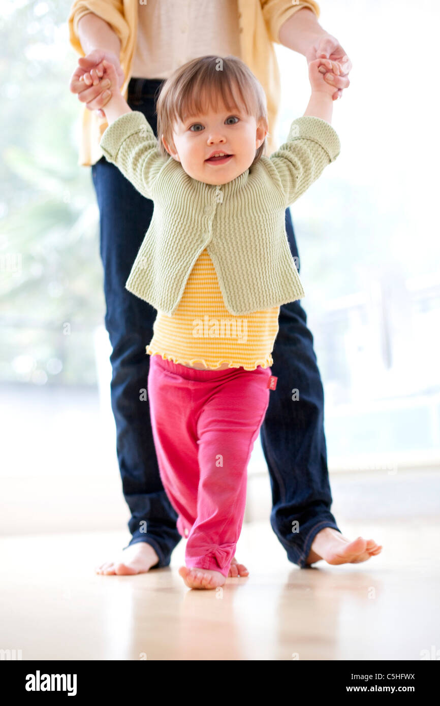Learning to walk - Stock Image