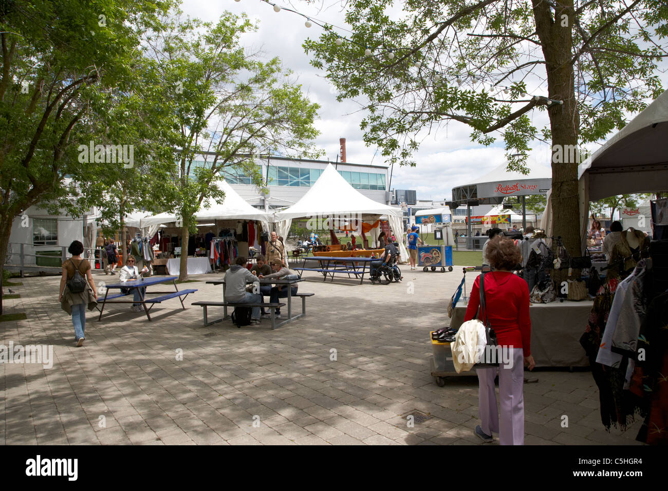 international marketplace stalls at the harbourfront centre toronto ontario canada - Stock Image