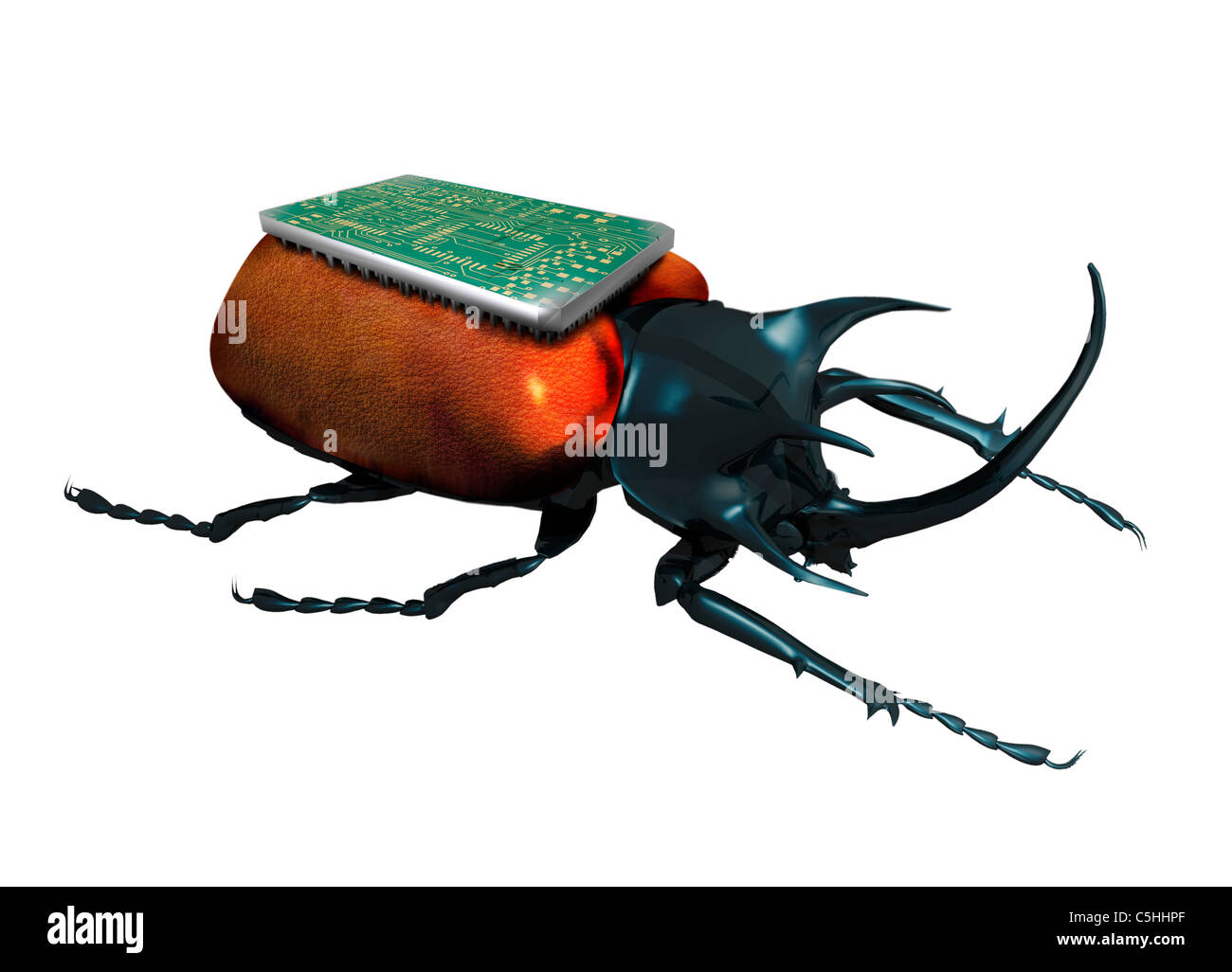 Insect spy, conceptual artwork - Stock Image
