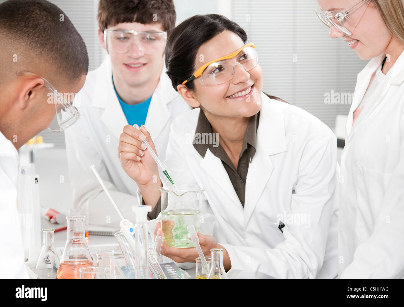 Chemistry lesson - Stock Image