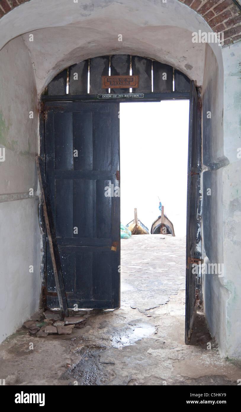 The Door of No Return. Cape Coast Castle a former slave fort. Cape Coast Ghana & The Door of No Return. Cape Coast Castle a former slave fort. Cape ...