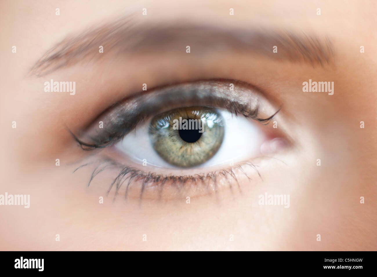 Teenage girl's eye - Stock Image