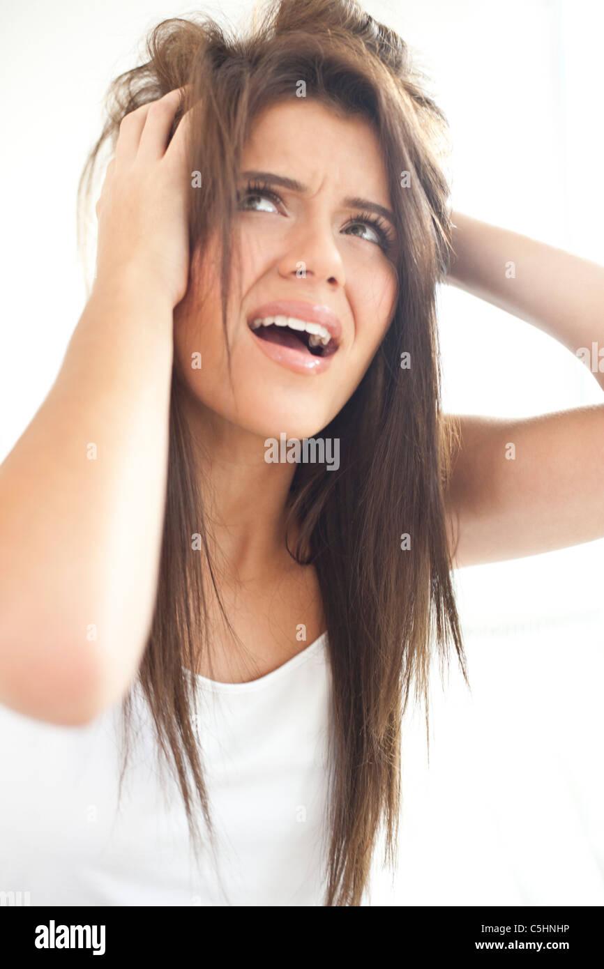 Bad hair day - Stock Image