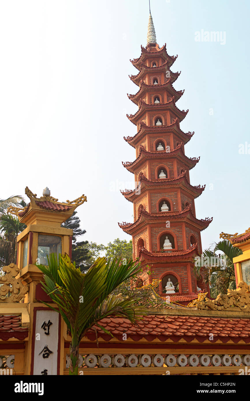 Tran Quoc Pagoda, a Buddhist temple and the oldest of all pagodas in Hanoi, Vietnam - Stock Image